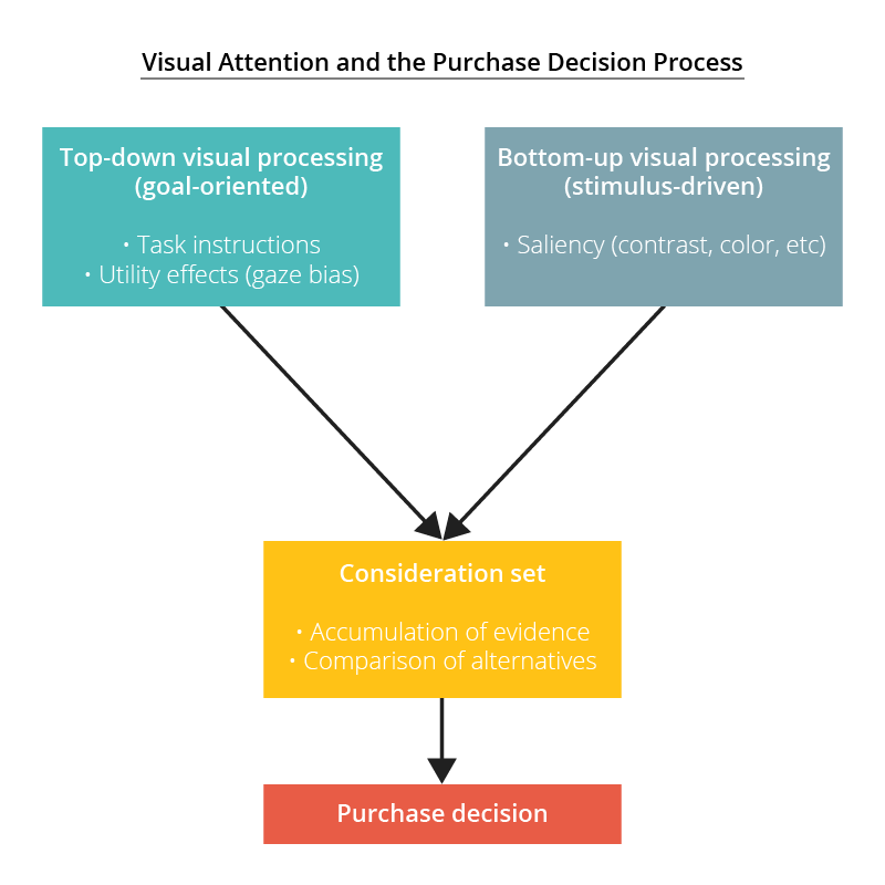 visual attention purchase decision process