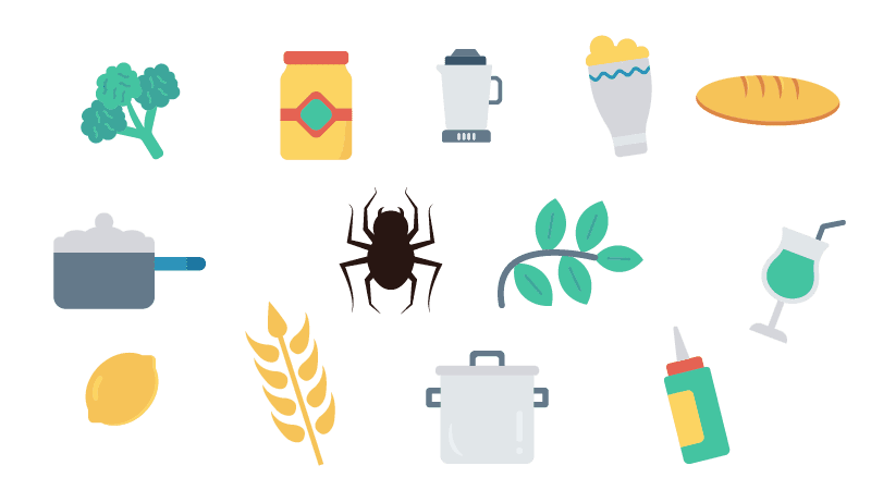 visual search task spider