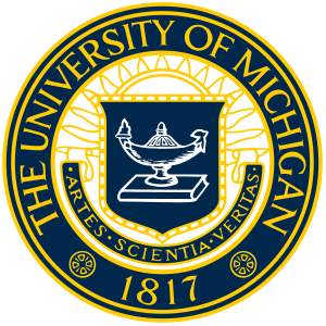 university of michigan seal logo on transparent background