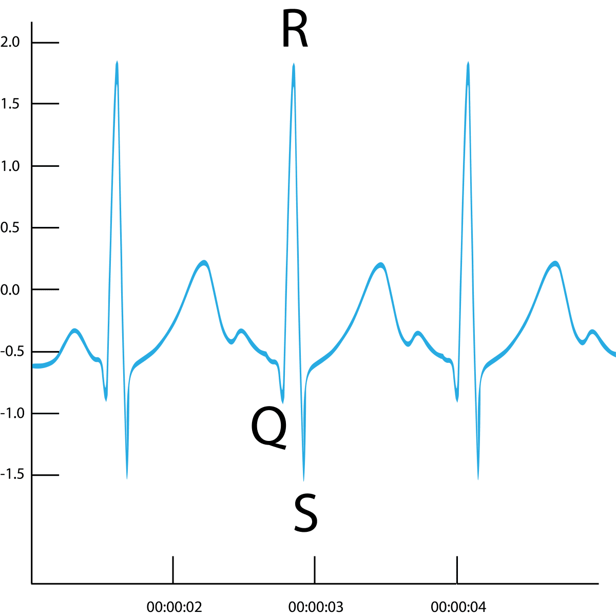 Biopac ECG heartrate