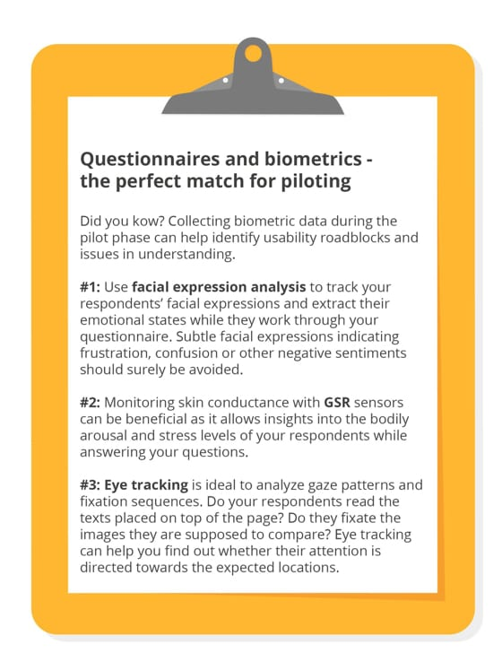 Questionnaires and biometrics - the perfect match for piloting
