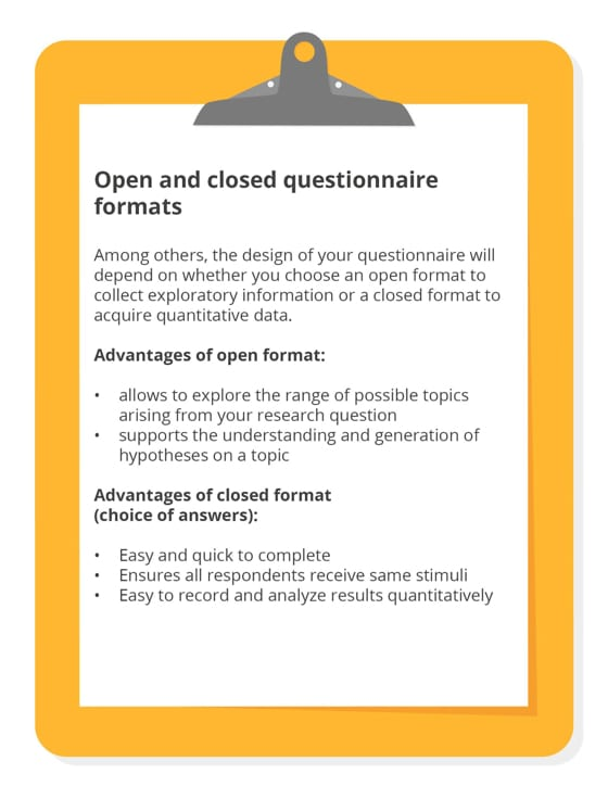 open and closed questionnaire formats
