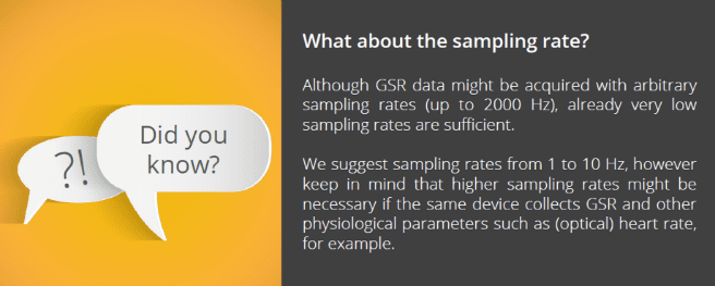 Did you know - GSR sampling rate