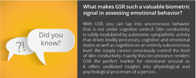 Why is GSR so valuable for motional behavior