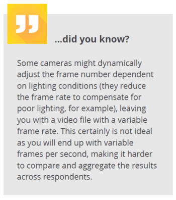 did you know- frame number camera