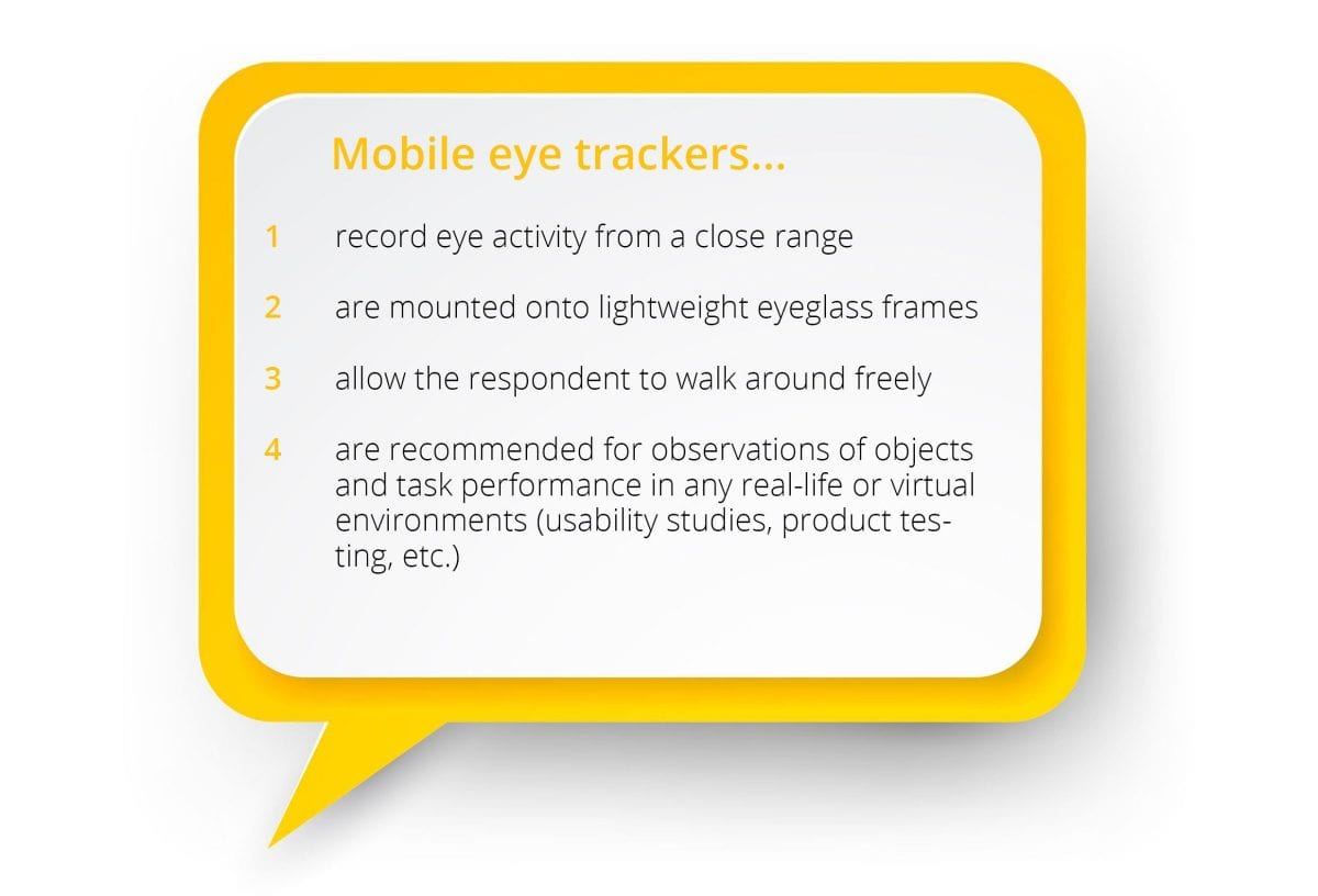 what mobile eye trackers do