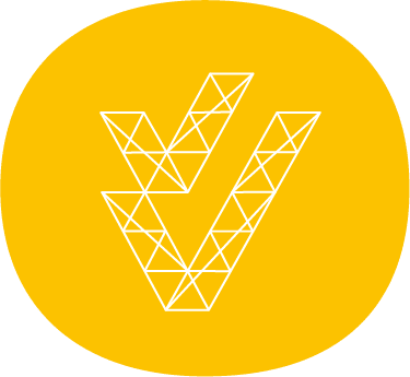 abstract survey icon white lines on yellow background