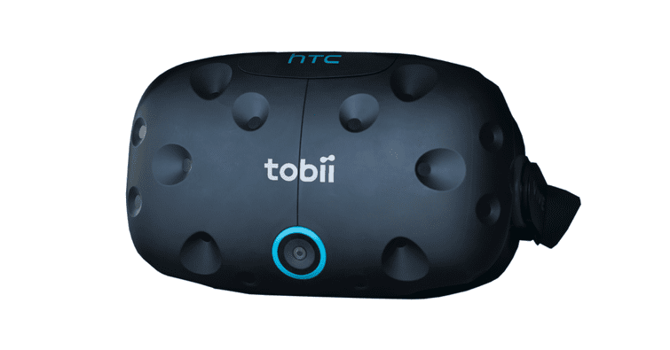 Tobii HTC Vive VR Headset on white background
