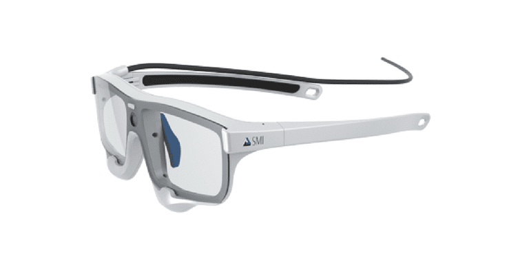 SMI Eye Tracking Glasses on white background