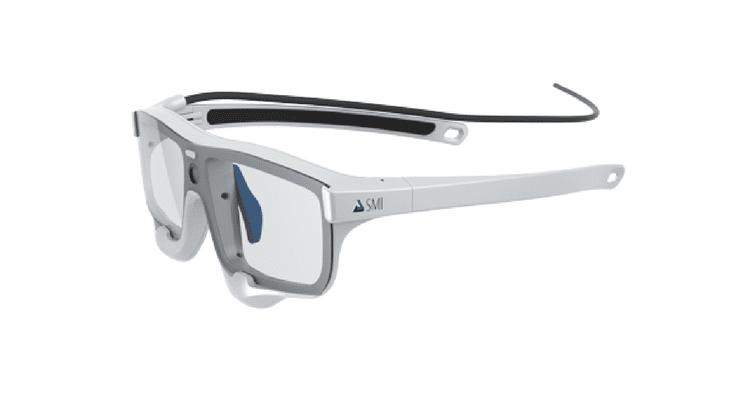 SMI Eye Tracking Glasses on white background