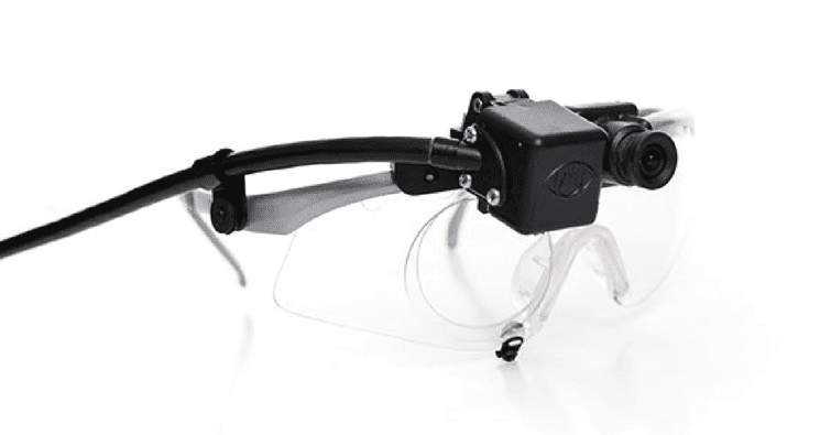 ASL Eye Tracking Glasses on white background