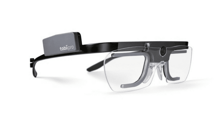 Tobii Eye Tracking Glasses on white background