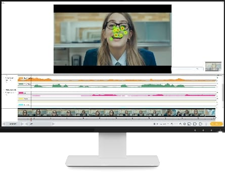 Screenshot of advert experiment using iMotions