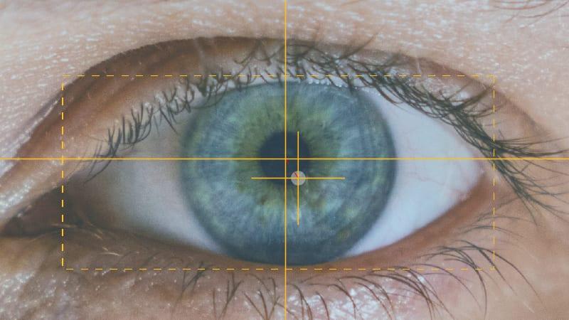 Eye closeup showing how eye trackers work