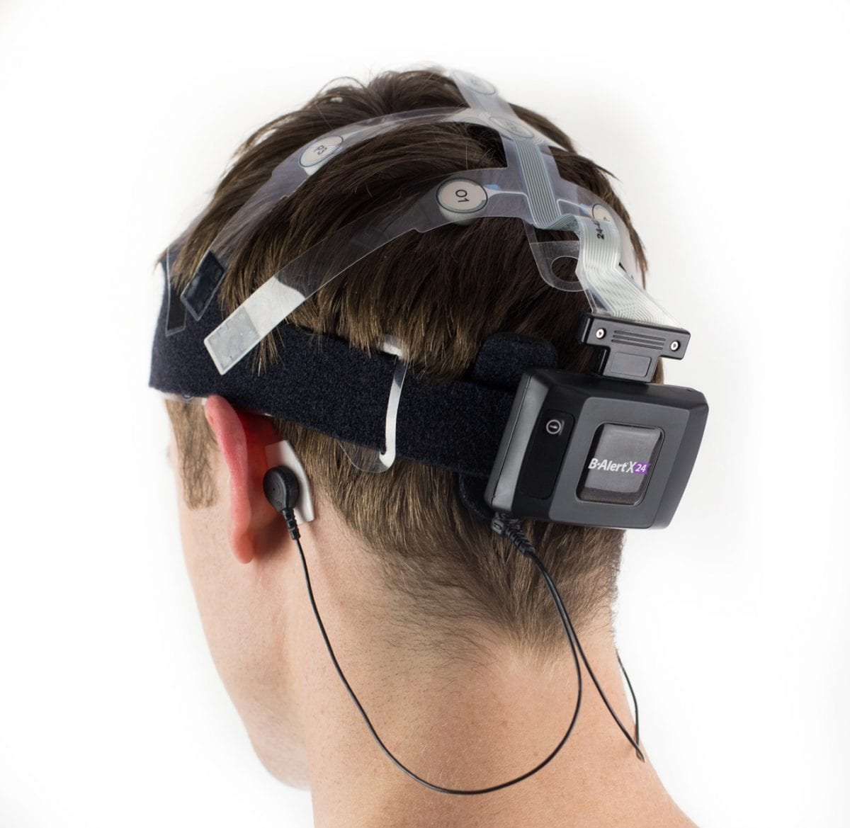 ABM B-Alert X24 EEG Headset on model