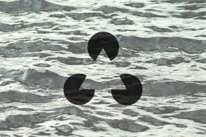 Gestalt triangle on the background of the waves