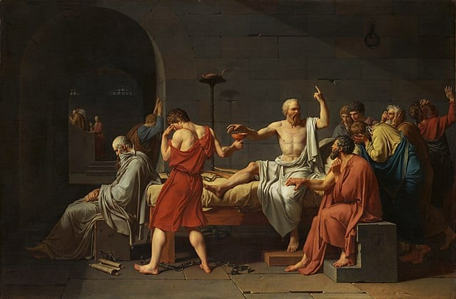 Socrates death painting