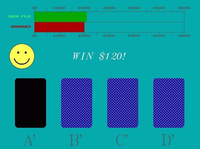 screenshot of Iowa gambling task