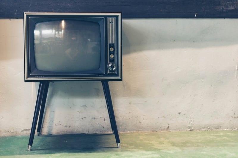 vintage tv in a room