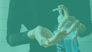 Sanitizing Hands Clean Hardware