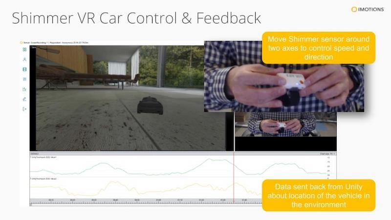 Shimmer VR biosensor API example