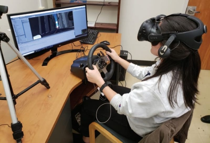 Driving simulation with VR & GSR