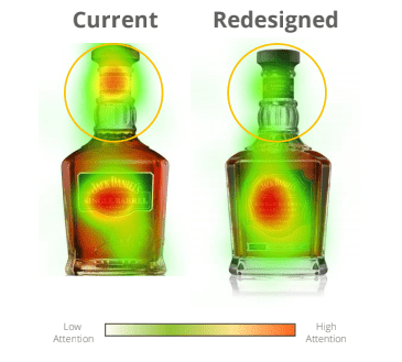 heatmap overlay jack daniels bottle